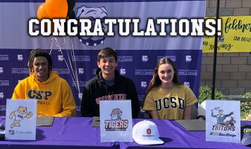 Athletes signing letter of intent